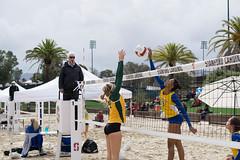 USF sand Volleyball 2016 season @ Stanford (elias.bouzeid) Tags: sun black green net beach sports rain yellow ball fun 50mm sand san francisco university wind action sony air stanford blonde volleyball ncaa palo alto usf a6000