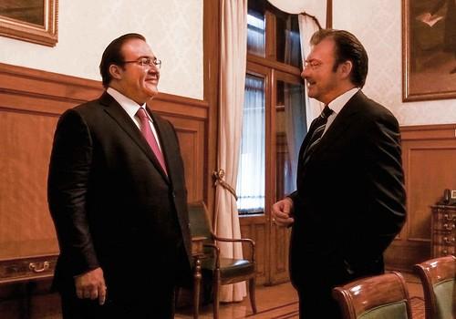 El gobernador Javier Duarte se reunió con el secretario de Hacienda y Crédito Público