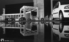 Junta de Castilla y Len (Len) (ma_rohe) Tags: blackandwhite reflection byn blancoynegro night puddle reflejo puddles nightphotograpy reflejos reflects charco charcos leonesp bnwcaptures
