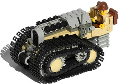 """Goat"" Light Diesel Tractor Mk. XXIV (front) (Ɍaillery) Tags: tractor tank desert lego diesel military goat vehicle motor windup motorized tracked adventurers treads nonelectric dieselpunk"