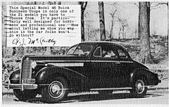 1938 Buick Model 46 Business Coupe (aldenjewell) Tags: buick model postcard 1938 business coupe 46