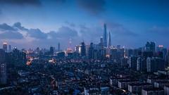 Timelapse of Shanghai City (HIKARU Pan) Tags: china summer sky horizontal outdoors timelapse asia cityscape shanghai wind cloudy chinese landmark development orientalpearltvtower highangleview timelapsevideo shanghaiworldfinancialcenterswfc