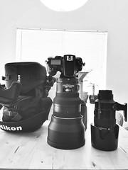 Look what UPS brought me!!  200mm f2 next to the 70-200mm Nikon (JphotoArt.com) Tags: lens prime big nikon case f2 fatboy 200mm birtha d810