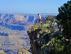 Lost in Thought, Grand Canyon, AZ 9-15 (inkknife_2000 (6.5 million views +)) Tags: arizona usa landscapes grandcanyon tourist skyandclouds nationalparks contemplation thunderhead wondersofnature dgrahamphoto erodedformations