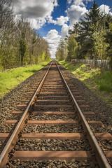 Railway (shinoda89) Tags: railroad nature sport train outdoor path natur eisenbahn railway zug german vehicle bahn hdr fahrzeug deutsche schiene pfad eisenbahnschienen drausen nordwestbahn
