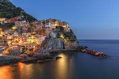 Cinque Terre - Blue Hour (Achim Thomae) Tags: italien landscape europa europe italia liguria cinqueterre landschaft manarola mrz frhling 2016 ligurien thomae achimthomae