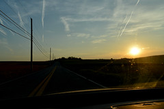 setting sun / the road and sky (bluebird87) Tags: road sunset 28mm d600