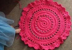 Nod and a Wink - Miss M's night light rug. (Dokuro3Chan) Tags: pink baby kids handmade crochet led nightlight rug watg ledrug lightrug