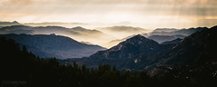 Lower Sierra Nevada (Steffen Walther) Tags: california travel trees light sunset panorama usa mountains fog canon landscape nationalpark scenery outdoor rays sierranevada sequoia viele canon70200 beetlerock fotografjena steffenwalther reisefotolust