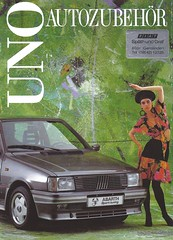 Fiat Uno three door hatch (Hugo-90) Tags: auto car ads advertising automobile fiat uno catalog brochure automovile threedoor