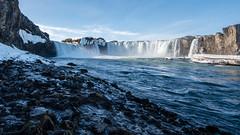 Goafoss (swissgoldeneagle) Tags: blue winter sky island is waterfall iceland wasserfall himmel bluesky d750 blau blauerhimmel hdr godafoss goafoss norurlandeystra