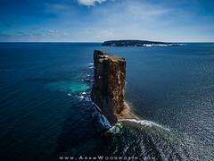 Perce Rock From the Air (Adam Woodworth) Tags: perce rockformation drone percerock gaspepeninsula phantom3pro
