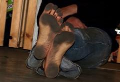 dirty party feet 534 (dirtyfeet6811) Tags: feet barefoot soles dirtyfeet partyfeet dirtysoles