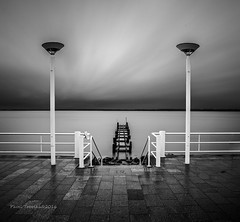 Pier 19 II (P.Tob-Ys) Tags: longexposure sea blackandwhite bw canon germany square outdoor balticsea luebeck lubeck lams detschland nd1000 paveltobolka