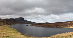 Loch Leathan and the Storr (diffendale) Tags: sky panorama lake skye isleofskye cloudy photostitch oldmanofstorr thestorr lochleathan imagecompositeeditor scitis pleiades:depicts=89286