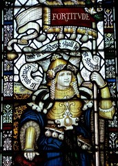 Retford - St Swithun's - Kempe Glass (Glass Angel) Tags: tower stainedglass warmemorial nottinghamshire fortitude retford kempe stswithun
