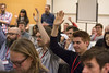Cross government design meeting, April 2016 (gdsteam) Tags: designers designcommunity handsintheair smile