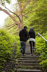Afternoon (zsolesz_93) Tags: tree guy green nature girl forest walking happy iso3200 nice nikon couple hungary afternoon treppe romantic 1855mm 1855 liebe noisy hungarian miskolc nikond3200