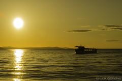 Sunset on Zadar (cashacker1980) Tags: sunset sea sky colour sol water clouds landscape boat mar agua nikon barco croatia paisaje cielo nubes puestadesol zadar croazia croacia d5100