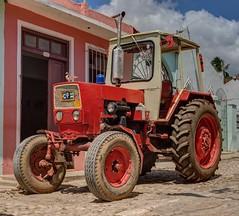 Cuban Tractor (Chris Willis 10) Tags: red tractor cuba cuban