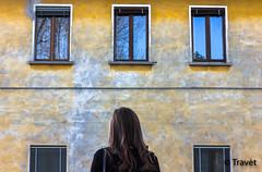The chooser (Travt) Tags: windows woman beauty yellow wall hair back poetic chooser