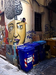 """""""Street_Art"""" (giannipaoloziliani) Tags: pictures street city italy streetart colors face flickr downtown italia bottles liguria report details streetphotography angles murals spray urbanart genoa genova boxes suburb containers reportage alleys vicoli periphery leaflets narrowstreets garbages vicolidigenova artexpressions suburbstyle ilovegenova giannipaoloziliani alleysofgenoa"""