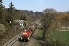 bergabezug in Ulm-Donautal (fuzzfilipp) Tags: diesel db ulm v90 sdbahn