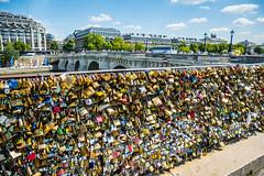 Love Locks Near Pont Neuf (Serendigity) Tags: city bridge paris france railings padlocks lovelocks