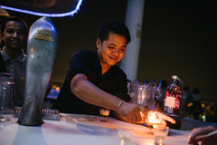 Rooftop Bar Shots (DEARTH !) Tags: travel cloud bar night thailand asia southeastasia shots bangkok nightlife bartender skybar dearth rooftopbar cloud47