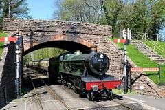 Beware Of The Train: 4936 (Gerald Nicholl) Tags: train hall engine loco somerset steam locomotive express gwr 460 wsr collett bishopslydeard greatwestern 4936 kinlethall
