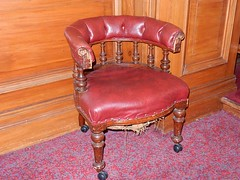 Tattered Leather Chair (mikecogh) Tags: leather comfortable museum chair wellington tattered