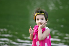 P O R T R A I T - (sa hadi) Tags: blue light sunset shadow baby sun black green girl canon background smoke explore serene sa nymph bangladesh hadi ef70200mm naiad watersprite sahadi