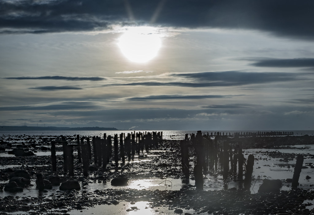 Oyster lines, Allonby, Cumbria