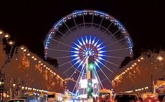 La grande roue de la concorde à paris (vriadne) Tags: winter light paris france seine night hiver champs elysées eiffel toureiffel concorde vivelafrance
