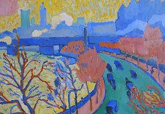 Derain, Charing Cross Bridge, detail