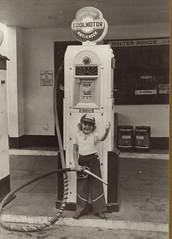 Cities Service Gas Pump with Child