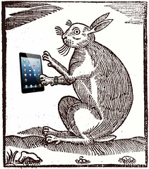 Contemporary Coney, after a 1592 Robert Greene pamphlet woodcut (Mike Licht, NotionsCapital.com) Tags: woodcuts prints rabbits cony rubes applewatch oryctolaguscuniculus robertgreene ipads elizabethanpamphlets
