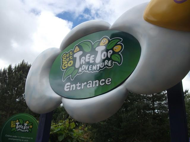 Get Set Go Treetop Adventure - Entrance Sign