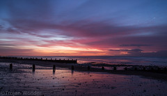 New years Day sunrise (1) (Trojan Wonder) Tags: sea beach water clouds sunrise pier worthing shingle newyear structure groyne 2016 robcarter