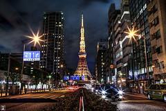 tokyo Tower (yuk_miy) Tags: longexposure japan architecture canon landscape tokyo cityscape nightscape tokyotower hdr nightphotograph canonphotography