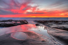 La Jolla Tide Pools sunset - 2/1/16 (San Diego Shooter) Tags: california sunset sandiego lajolla hdr lajollacove hdrsunset highsurfwarning lajollatidepools sandiegosunest