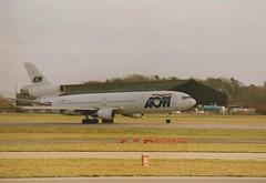 F-BTDE DC10-30 AOM AT MANCHESTER (fletcher595) Tags: manchester douglas dc10 aom trijet dc1030 fbtde fbtdedc10