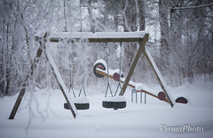 Untouched playground (KronaPhoto) Tags: winter snow ice playground norway kids barn is vinter play natur hidden untouched sn snowbound leker huske lekeplass vippe nedsndd urrt gjemt uberrt