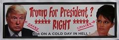 2016_0207Trump-For-President0001 (maineman152 (Lou)) Tags: never crazy election propaganda president politics narcissist noway hate vote trump racist bigot hater 2016 misogynist crazier propagandist donaldjtrump trumpforpresident