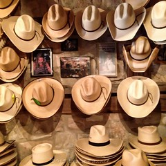 cowboy hats in Luckenbach (lezlievachon) Tags: