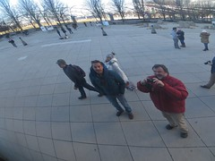Chicago: Cloud Gate (The Bean) (zug55) Tags: chicago illinois loop nick peter millenniumpark cloudgate thebean anishkapoor selfie sculpure doubleselfie
