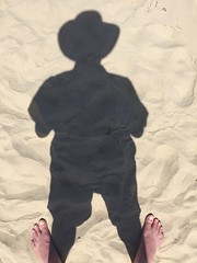 shadow of a man (Seakayem) Tags: shadow beach nature silhouette cellphone iphone wilsonspromontory sandybay
