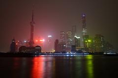 Shanghai Skyscapers (Andrew Stawarz) Tags: china mist tower rain buildings river tv skyscrapers shanghai jin nighttime mao fujifilm pearl oriental huangpu swfc sooc xt1 fujinonxf1024mmf4rois