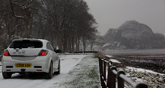 Out in the snow (CD58 ASH Carspotting) Tags: snow edition astra nurburgring vxr dumbartoncastle