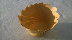 Kepler's Laundry Basket (oschene) Tags: circle spiral origami cone ellipse tomokofuse junmaekawa